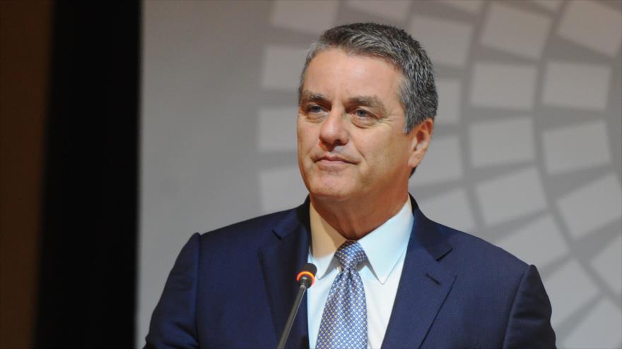 El director general de la OMC Roberto Azevedo da un discurso en Bali, Indonesia, 10 de octubre de 2018. (Foto: AFP)