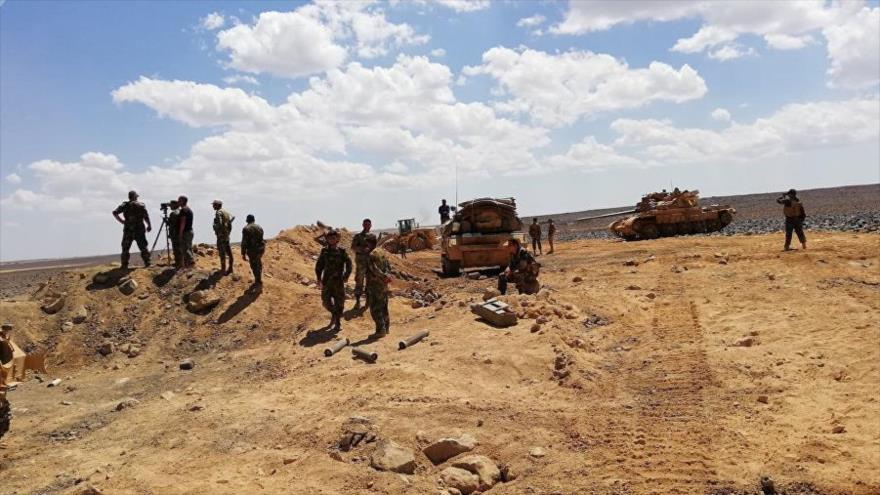 Vídeo: Ejército sirio hace salir a Daesh de su escondite volcánico