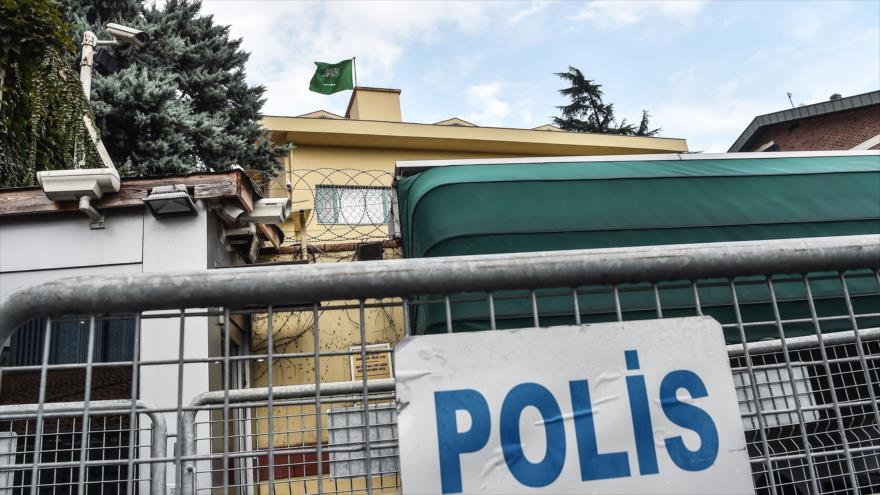 El consulado de Arabia Saudí en la ciudad turca de Estambul, 11 de octubre de 2018. (Foto: AFP).