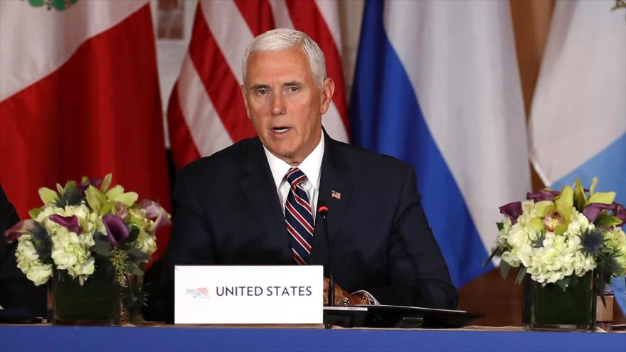 El vicepresidente de EE.UU., Mike Pence, habla en una conferencia de prensa en Washington, 11 de octubre de 2018. (Foto: AFP).