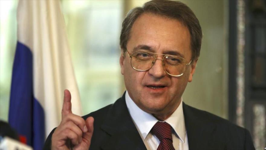El vicecanciller de Rusia, Mijail Bogdanov.
