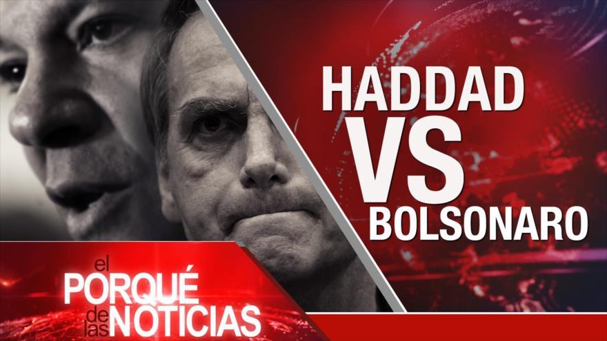 El Porqué de las Noticias: Presidenciales en Brasil. Periodista saudí Yamal Jashoggi. Guerra comercial