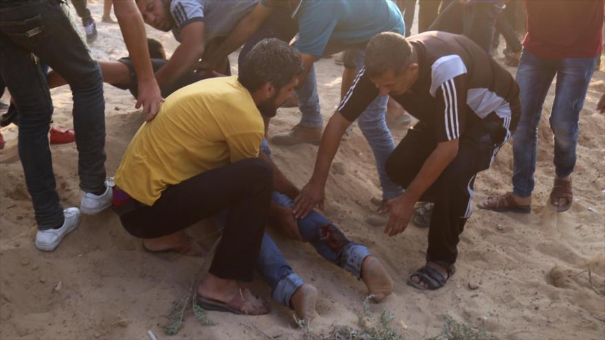 Soldados israelíes matan a 7 palestinos en otro viernes de marchas