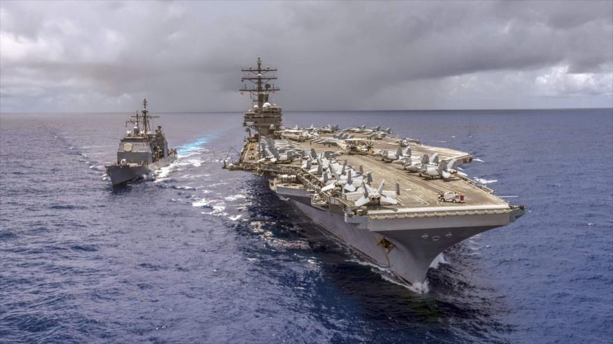Portaviones USS Ronald Reagan realiza revisión en aguas coreanas