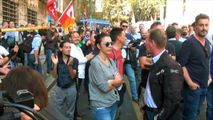 Trabajadores italianos rechazan pésimas condiciones laborales