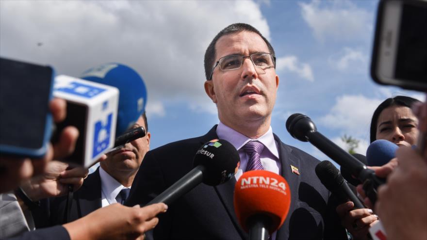 El canciller de Venezuela, Jorge Arreaza, Nueva York, 24 de septiembre de 2018. (Fuente: AFP).