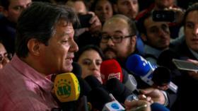 Haddad avisa de que Bolsonaro busca una dictadura en Brasil