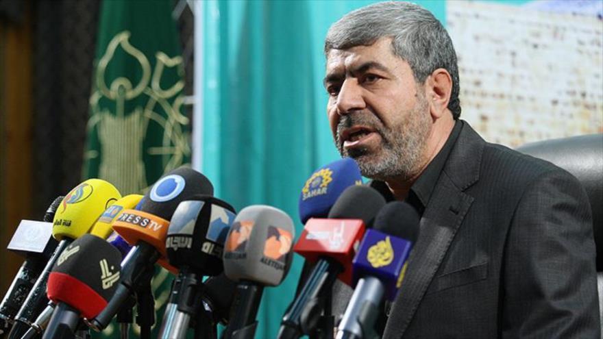 El portavoz del Cuerpo de Guardianes de la Revolución Islámica (CGRI) de Irán, el general de brigada Ramezan Sharif.