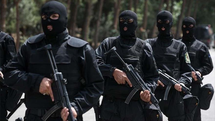 Fuerzas de seguridad iraníes durante entrenamiento.