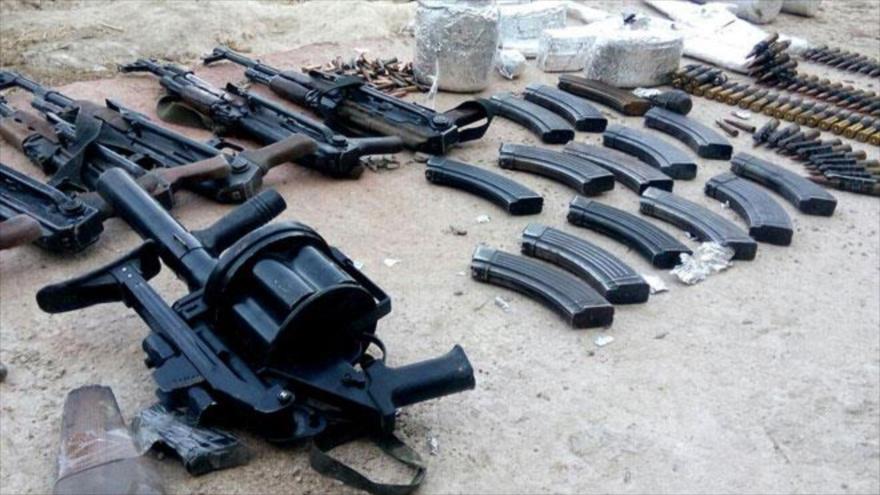 Siria halla armas de EEUU en un depósito de terroristas en Damasco