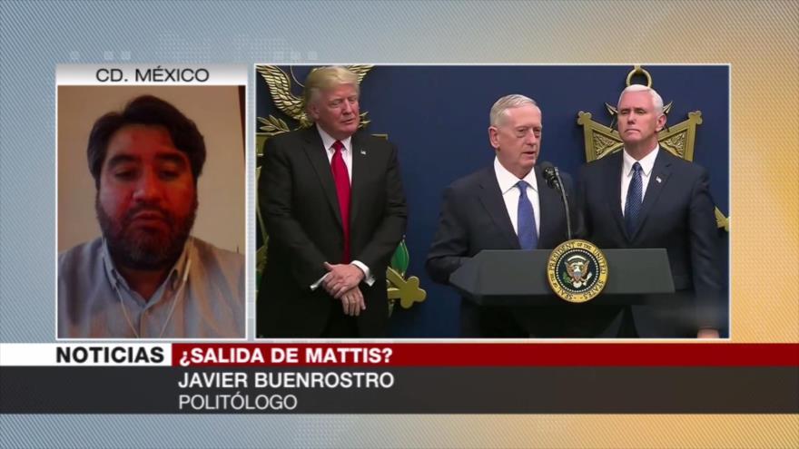 Buenrostro: Política exterior de EEUU se radicalizará sin Mattis