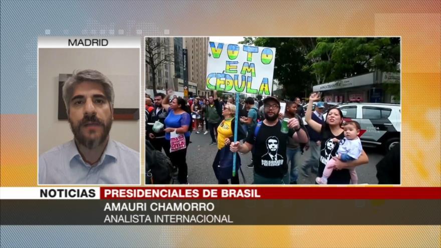 """Chamorro: Bolsonaro busca convertir a Brasil en un """"reino de terror"""""""