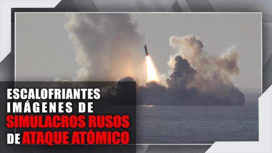 Escalofriantes imágenes de simulacros rusos de ataque atómico