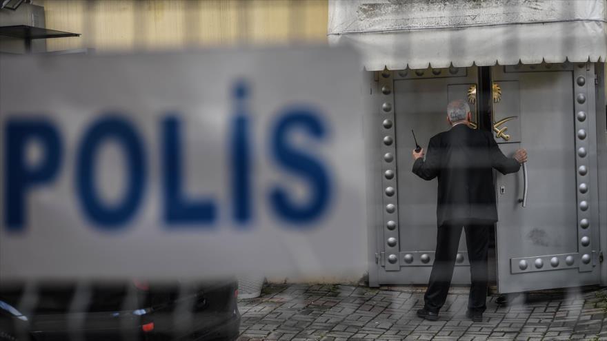 La entrada principal del consulado de Arabia Saudí en la ciudad turca de Estambul, 12 de octubre de 2018, (Foto: AFP).
