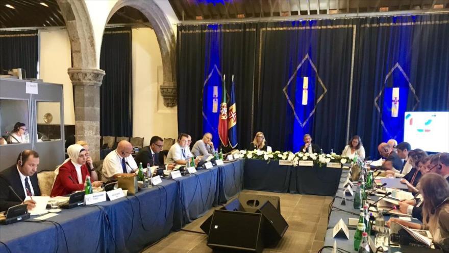Una cumbre de la Unión Interparlamentaria (UIP) celebrada en Ginebra, Suiza, 16 de octubre de 2018.