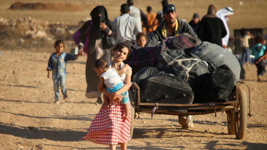 182 refugiados sirios regresan a Siria desde Jordania y El Líbano