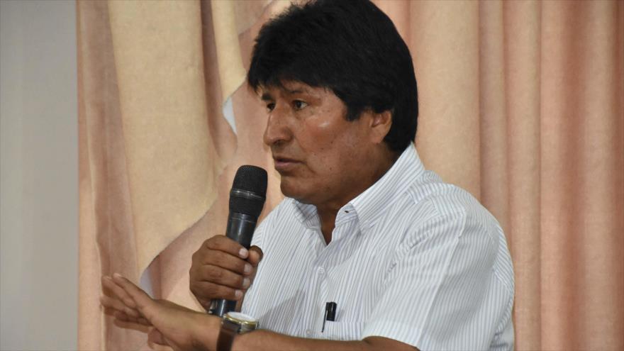 El presidente de Bolivia, Evo Morales, en un acto en el departamento de Beni, 18 de octubre de 2018. (Foto: ABI)