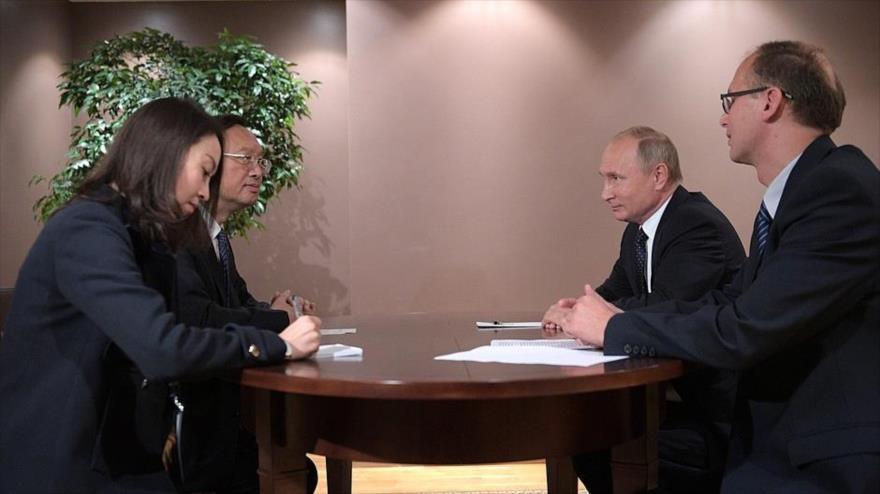Putin opta por asociación estratégica con China en pro de paz mundial