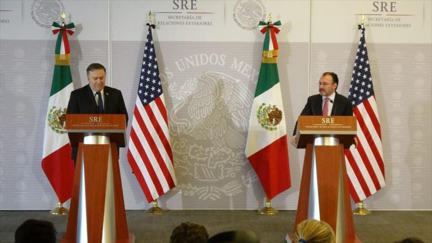 Pompeo alerta de 'crisis' por migración en frontera México-EEUU
