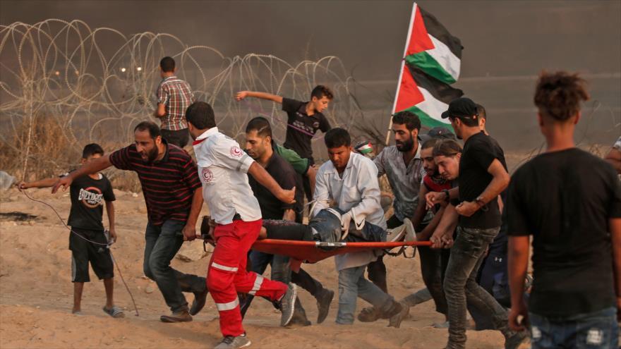 Disparos israelíes en Gaza dejan 130 heridos, incluidos 25 niños