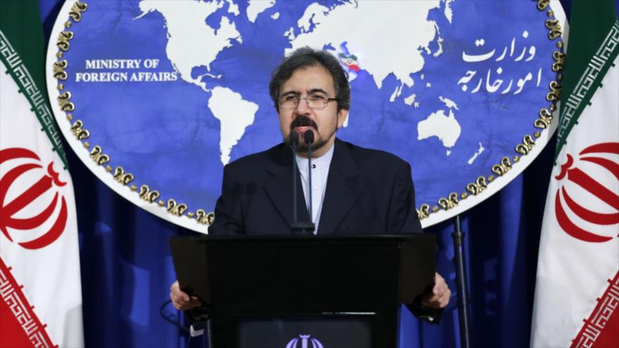 El portavoz del Ministerio iraní de Exteriores, Bahram Qasemi, en una conferencia de prensa en Teherán (capital).