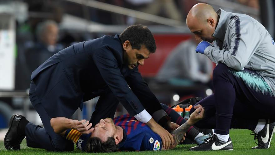 Messi tres semanas de baja por sufrir lesión en un brazo