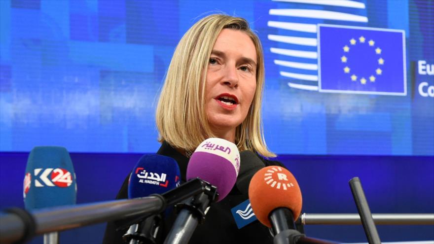 La jefa de la Diplomacia europea, Federica Mogherini, Bruselas, 18 de octubre de 2018.