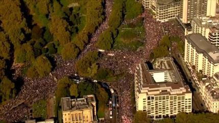 Británicos exigen en Londres un segundo referéndum sobre Brexit