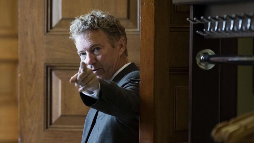 Senador de EE.UU. por el Estado de Kentucky, Rand Paul, en el Capitolo, 25 de septiembre de 2018. (Foto: AFP).