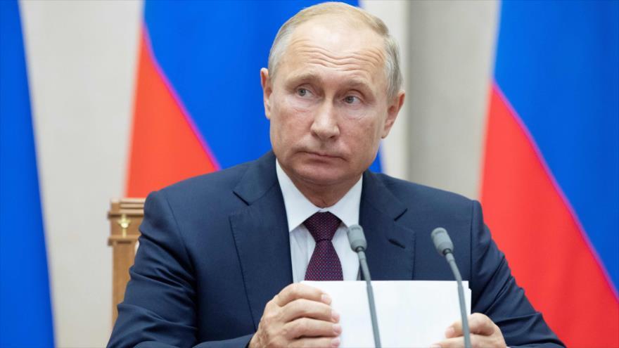El presidente de Rusia, Vladimir Putin, en un acto en la ciudad rusa de Sochi, 17 de octubre de 2018. (Foto: AFP)