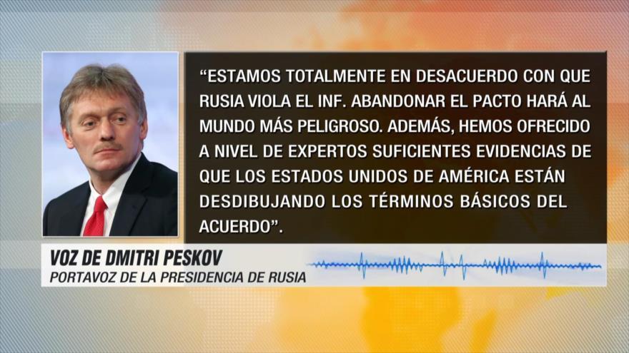 Rusia: Salida de EEUU del Tratado INF hace el mundo más peligroso