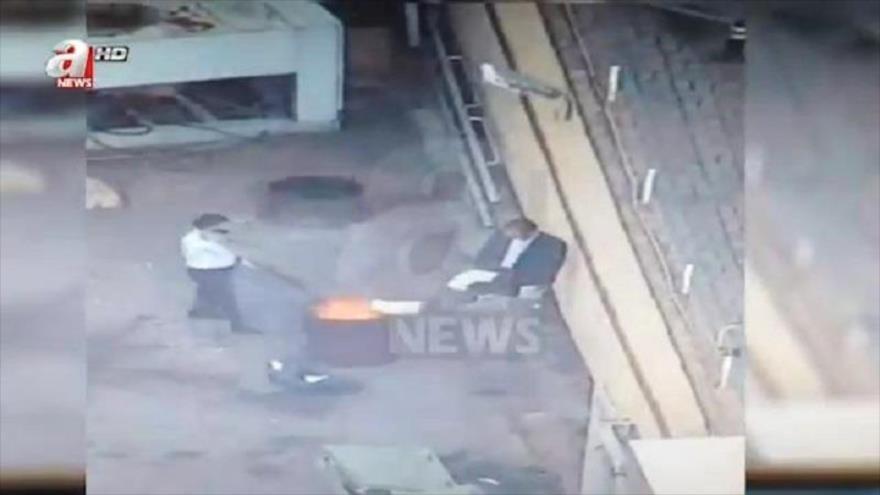 Vídeo: 3 saudíes queman documentos tras asesinato de Khashoggi
