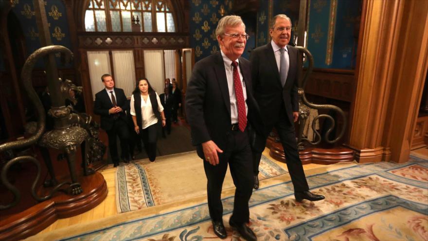 Bolton pedirá a Rusia reducir su apoyo a Venezuela, Cuba y Nicaragua