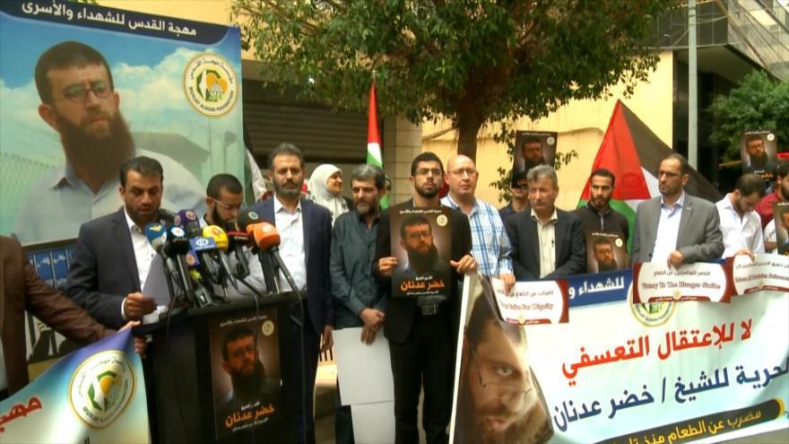 Libaneses y palestinos se solidarizan con Jader Adnan en Beirut