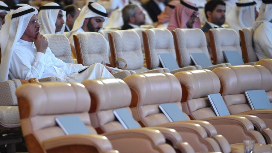 """Se inaugura el foro económico """"Iniciativa de Inversión Futura"""" en Riad, capital saudí en medio de un boicot internacional y sillas vacías, 23 de octubre de 2018."""