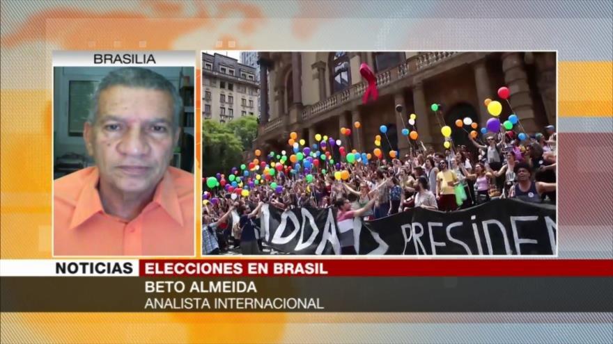 Almeida: Haddad moviliza a la gente en contra del fascismo en Brasil