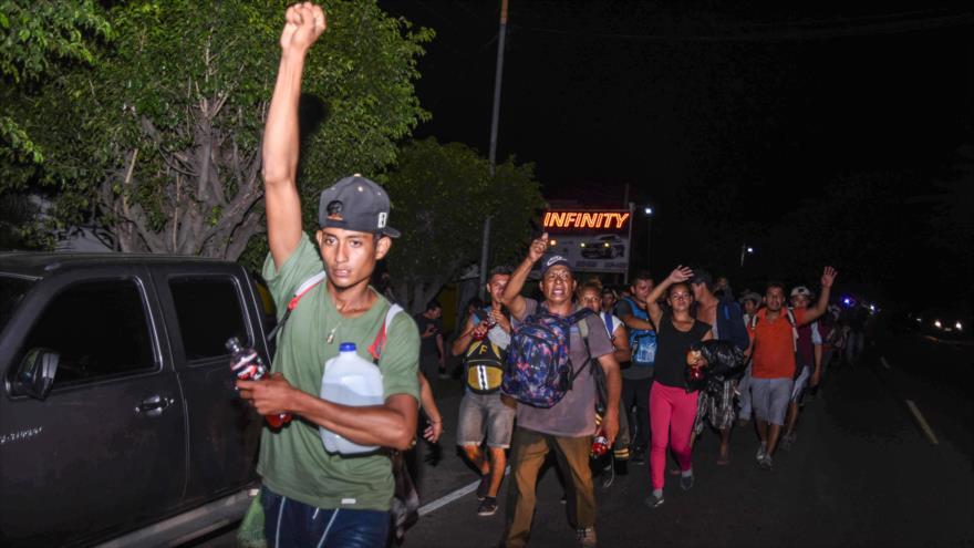 La Caravana de migrantes hacia EE.UU. llega a Chiquimula, Guatemala. 22 de octubre de 2018. (Foto: AFP)