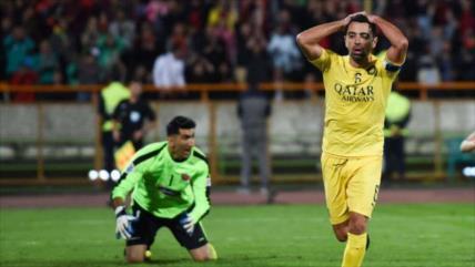 Paradón de portero iraní impide a Xavi cruzarse con el Madrid