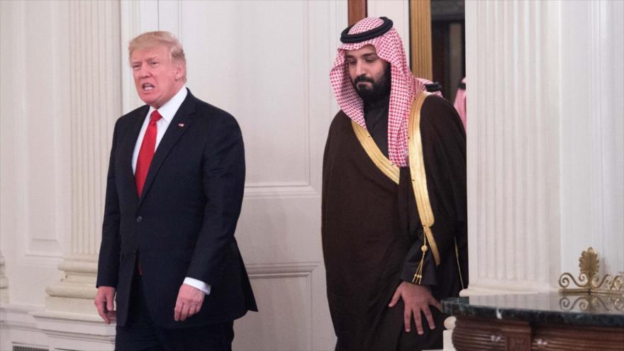 El presidente de EE.UU., Donald Trump, y el príncipe heredero saudí Muhamad bin Salman Al Saud, en la Casa Blanca, 14 de marzo de 2017. (Foto: AFP)