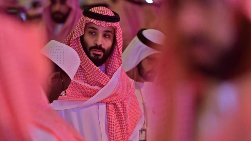 Muhamad bin Salman Al Saud, el príncipe heredero saudí, en una conferencia en Riad, la capital saudí, 24 de octubre de 2018. (Foto: AFP)
