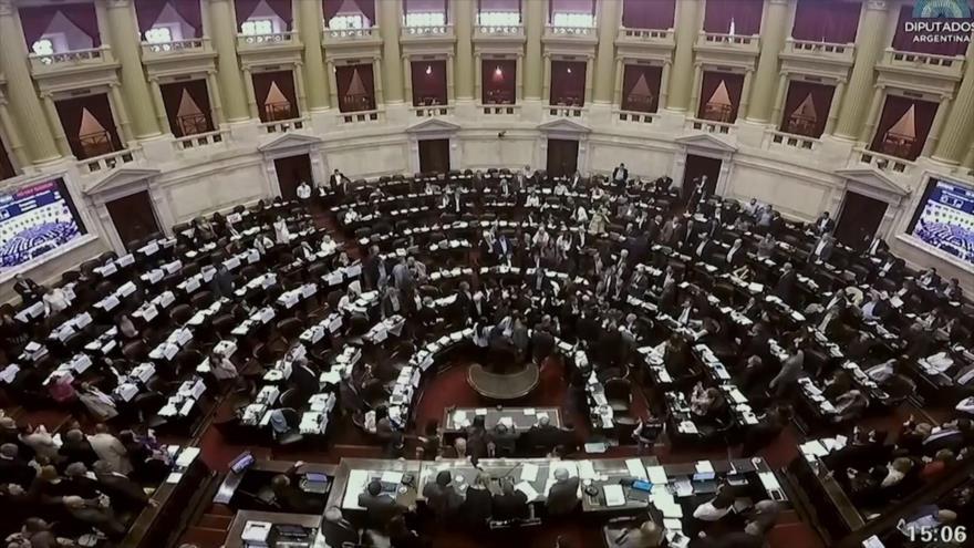 Cámara de Diputados de Argentina aprueba presupuesto de austeridad