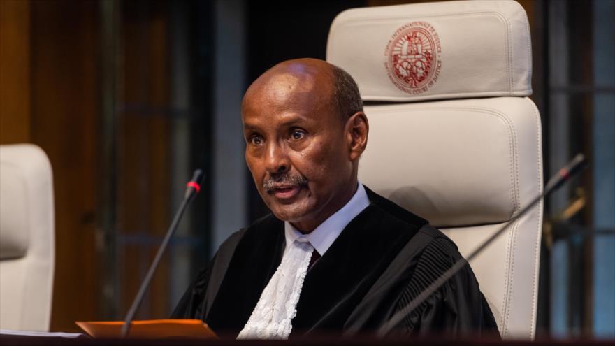 Elpresidente de la Corte Internacional de Justicia (CIJ) de La Haya,Abdulqawi Ahmed Yusuf.