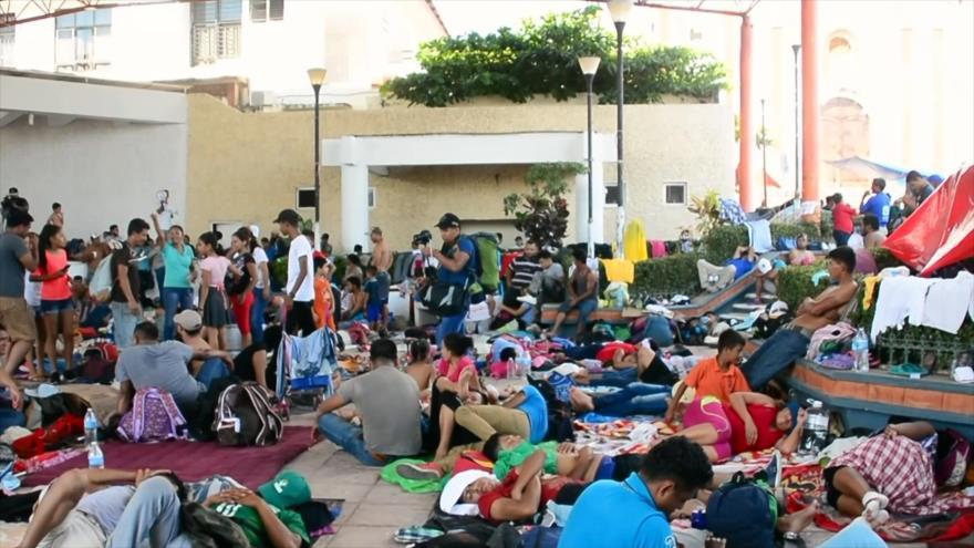 La caravana de migrantes se mantiene firme para llegar a EEUU