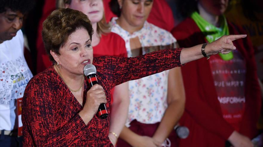 Rousseff advierte sobre la amenaza que tiene Bolsonaro para Brasil