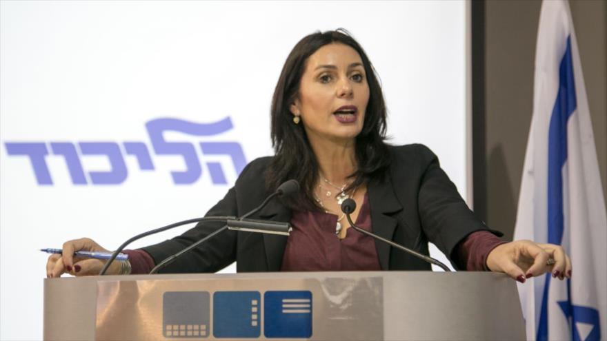 La ministra de cultura y deportes del régimen de Israel, Miri Regev.