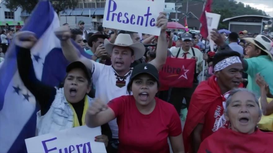En Honduras, reprimen protesta ciudadana