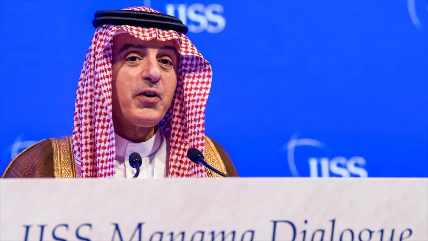 El canciller de Arabia Saudí, Adel al-Yubeir, durante una conferencia sobre seguridad en Manama, capital de Baréin, 27 de octubre de 2018. (Foto: AFP).