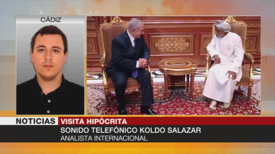 Salazar: Netanyahu persigue en Omán 'acuerdo del siglo' de EEUU