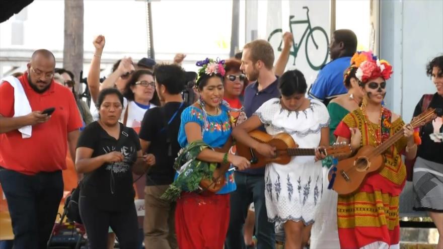 Miami marcha contra la violencia y en favor del voto popular