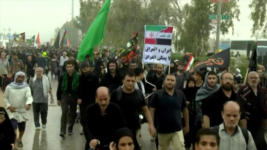 Musulmanes llegan a Karbala para los rituales del Día de Arbaín